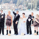 130x130 sq 1416002310925 wedding party in snow