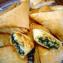 220x220 sq 1432229370794 spinach  feta in phyllo