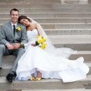 130x130 sq 1399317750333 bride with yellow bouquet and shoe
