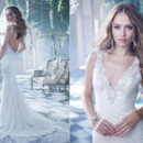 130x130 sq 1387646476699 alvina valenta bridal lace fluted gown plunging je