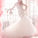 130x130 sq 1423325516469 hayley paige bridal ivory hand cut faux leather fi