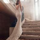 130x130 sq 1423325807614 lazaro bridal alencon lace trumpet v neckline bead