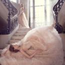 130x130 sq 1423325826154 lazaro bridal floral textured ball chantilly lace