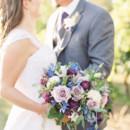 130x130 sq 1488463316354 nicole relvas bridal bouquet purpleblue