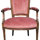 130x130 sq 1369313209442 rose colored parlor chair 600