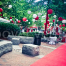 130x130 sq 1467321918532 t red carpet tree wrap  lanterns 2 2