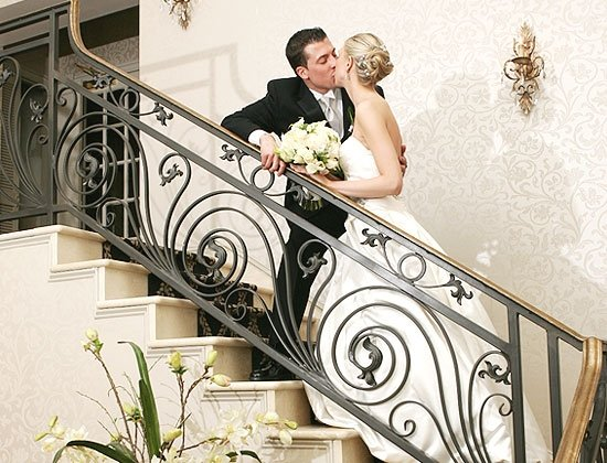 1210188721715 Bride Groom Stairs Belleville wedding venue