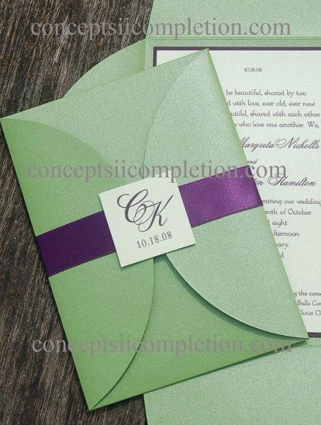 Green Orange Purple Fall Invitations Winter Wedding Invitations Photos ...