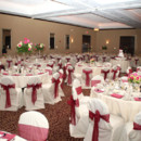 130x130 sq 1374701513216 white  pink ballroom with chair covers