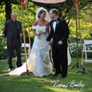 Jewish/Christian ceremony under a chuppah at Meridian House garden. Rodney Bailey Photography.