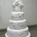 130x130 sq 1391090315461 lace pearl wedding cake we
