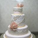 130x130 sq 1391101844831 pink lace wedding cake 00