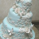 130x130 sq 1391101949473 snowflake butterfly wedding cake 02