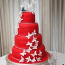 130x130 sq 1391102016796 red butterfly wedding cak