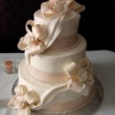 130x130 sq 1392397394632 bow and pearl wedding cake elegan