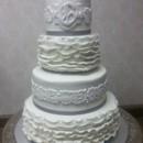 130x130 sq 1415837381157 buttercream ruffles wedding cake2