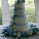 130x130 sq 1415837774089 blue wedding cake2