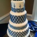 130x130 sq 1415837801661 blue white wedding cake