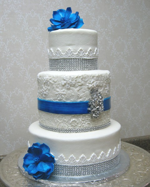 Wedding Cake Ideas Royal Blue: Avant-Garde Hollywood Glam Modern Romantic Vintage Blue