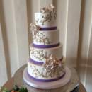 130x130 sq 1468427413213 purple ribbon piped gold swirls sugar roses