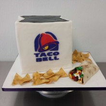 220x220 sq 1468429366456 taco bell chips taco cake