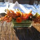 130x130 sq 1381884385503 orange orchid dahlia and succulent centerpiece