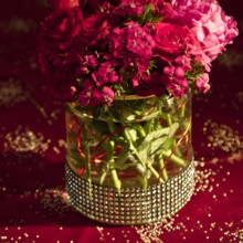 220x220 sq 1381884152217 red and pink centerpiece