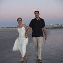130x130 sq 1466781131 ddc2e2e256989be0 gary   sharon just married walking on the beach at sunset