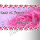 Roses, pretty in pink! We have this design also available in lavender, it could be done in other colors as well. Order online at www.srfavors.com design W164