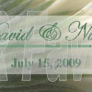 Pretty floral background custom wrapper. Order online at www.srfavors.com design code W196