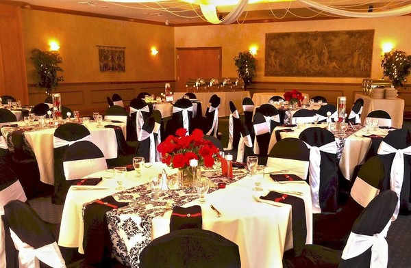 1443987532571 Ballroom With Black  Red Accents Manitou Springs wedding venue
