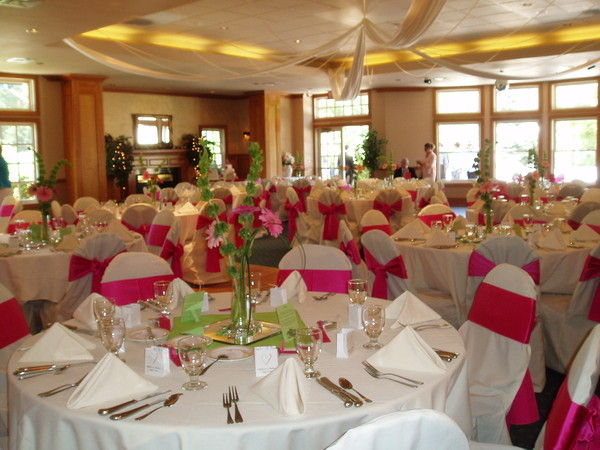1444248382990 Chair Covers White  Pink 009 Manitou Springs wedding venue