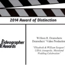 130x130 sq 1413491756344 2014 videographer award