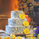 130x130 sq 1367538496985 wedding cake   blue and yellow