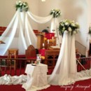 130x130 sq 1373602022758 tall ivory draping for ceremony backdrop