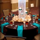130x130 sq 1404529062445 teal chocolate crystal centerpieces
