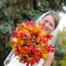 The most beautiful bouquet for a beautiful bride on a perfect Autumn day