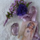 A charming piece of vintage, flawless, genuine beach glass.The soft lavender color is the perfect companion for the sterling silver bail and wire. Calming,charming,unique.True purple glass is much rarer. rue lavender glass was reserved for the Monarchy (showing Royalty) and for the Bishops in the church. Lavender beach glass is greatly admired for a soft pastel color and its' ability to be historically dated by the simple virtue of its' color.Prior to the 1920's glassmakers used the chemical manganese in manufacturing of clear glass. Time and UV exposure affect this chemical and the result is a clear to lavender transformation.this glass is nearly a century old which qualifies it to many as cherished antique treasures. 3