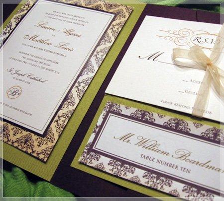 cachic design columbus oh wedding invitation
