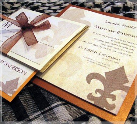 1305220016704 saints columbus wedding invitation
