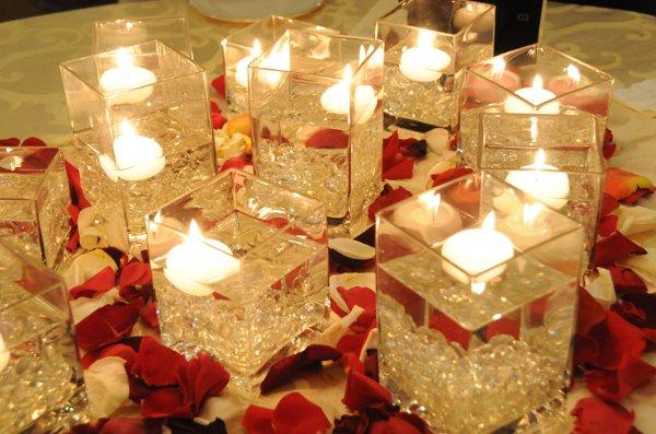 Burgundy Orange Red Centerpiece Centerpieces Indoor Reception Winter Wedding Cakes Photos ...