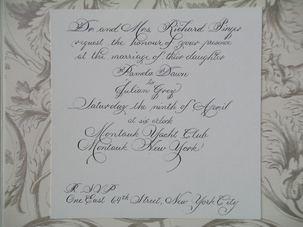 Calligraphy By Melanie Scottsdale Az Wedding Invitation