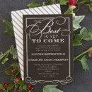 Best of All Wedding Invitation in Black Designed by: Sarah Hawkins Designs for Wedding Paper Divas