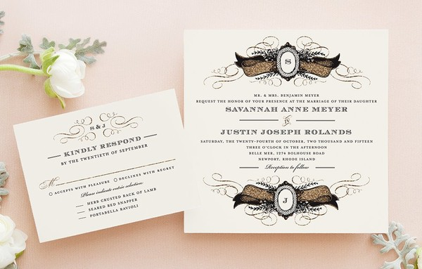 Wedding Diva Invitations: Santa Clara, CA Wedding Invitation