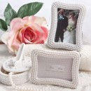 Pretty Pearl Place Card Photo Frame Wedding Favors http://www.littlethingsfavors.com/prpeplcaphfr.html