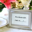 Beautifully Beaded Place Card & Photo Frame Wedding Favors http://www.littlethingsfavors.com/bebephfrandp.html
