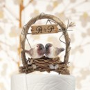 """A Love Nest"" - Love Birds in Archway Cake Topper http://www.littlethingsfavors.com/alonelobiina.html"