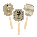 Vintage Wedding Personalized Paddle Fans
