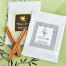 """Fall for Love"" Personalized Hot Apple Cider Wedding Favors"