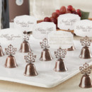 Lustrous Leaf Kissing Bell Place Card/Photo Holder (Set of 24)